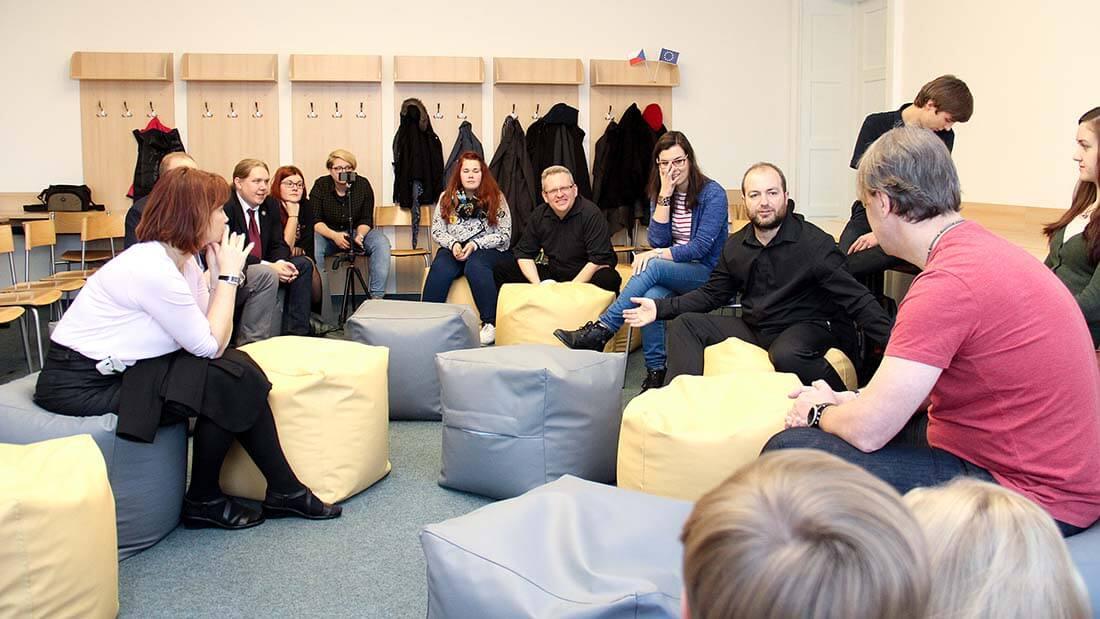 Dialog s rektorem (zdroj: fotoarchiv SU)